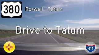 US Highway 380 - Roswell - Tatum - New Mexico | Drive America's Highways 🚙