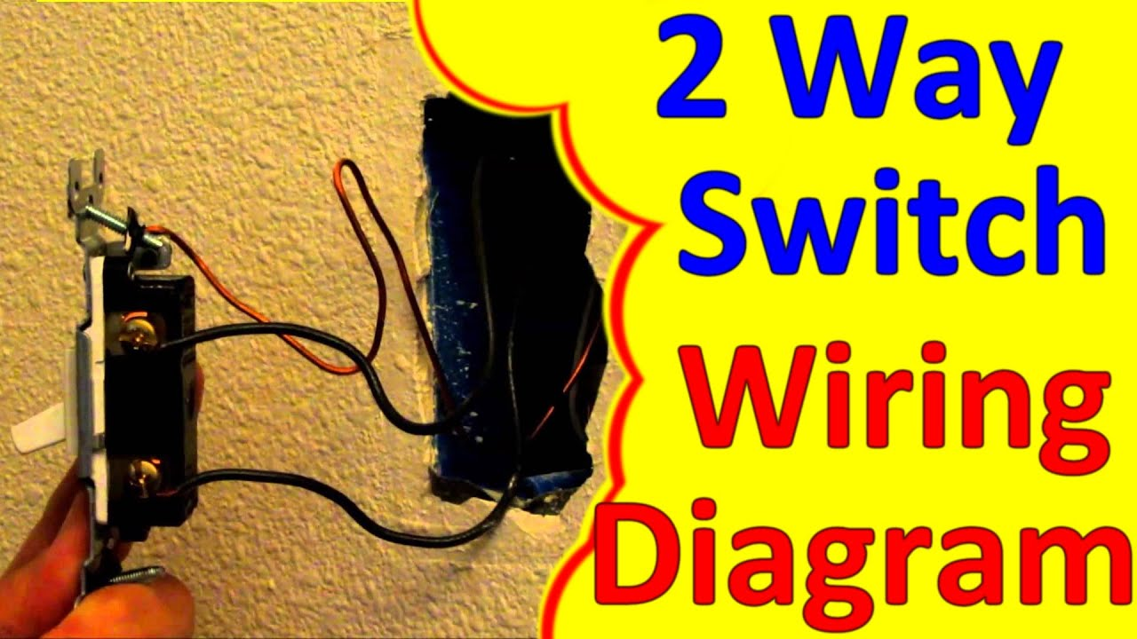 maxresdefault 2 way light switch wiring wiagrams (how to wire install) youtube  at bayanpartner.co