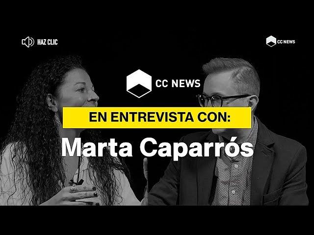 Marta Caparrós en CC News con Eduardo Navarrete