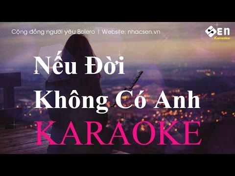Nếu đời không có anh - Karaoke Beat Chuẩn