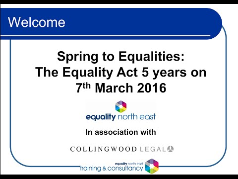 Spring to Equalities - The Equality Act 5 yrs on