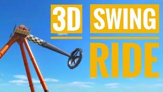 Swing Ride Roller Coaster POV SBS 3D VR video Google Cardboard not 360