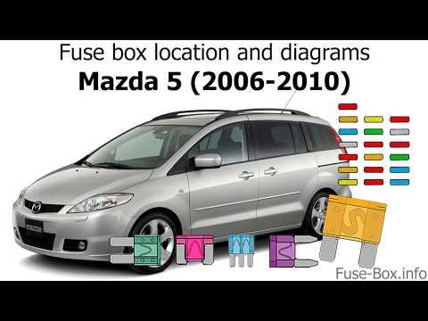 fuse box location and diagrams mazda 5 (2006 2010) youtube 2004 Mazda 6 Fuse Diagram