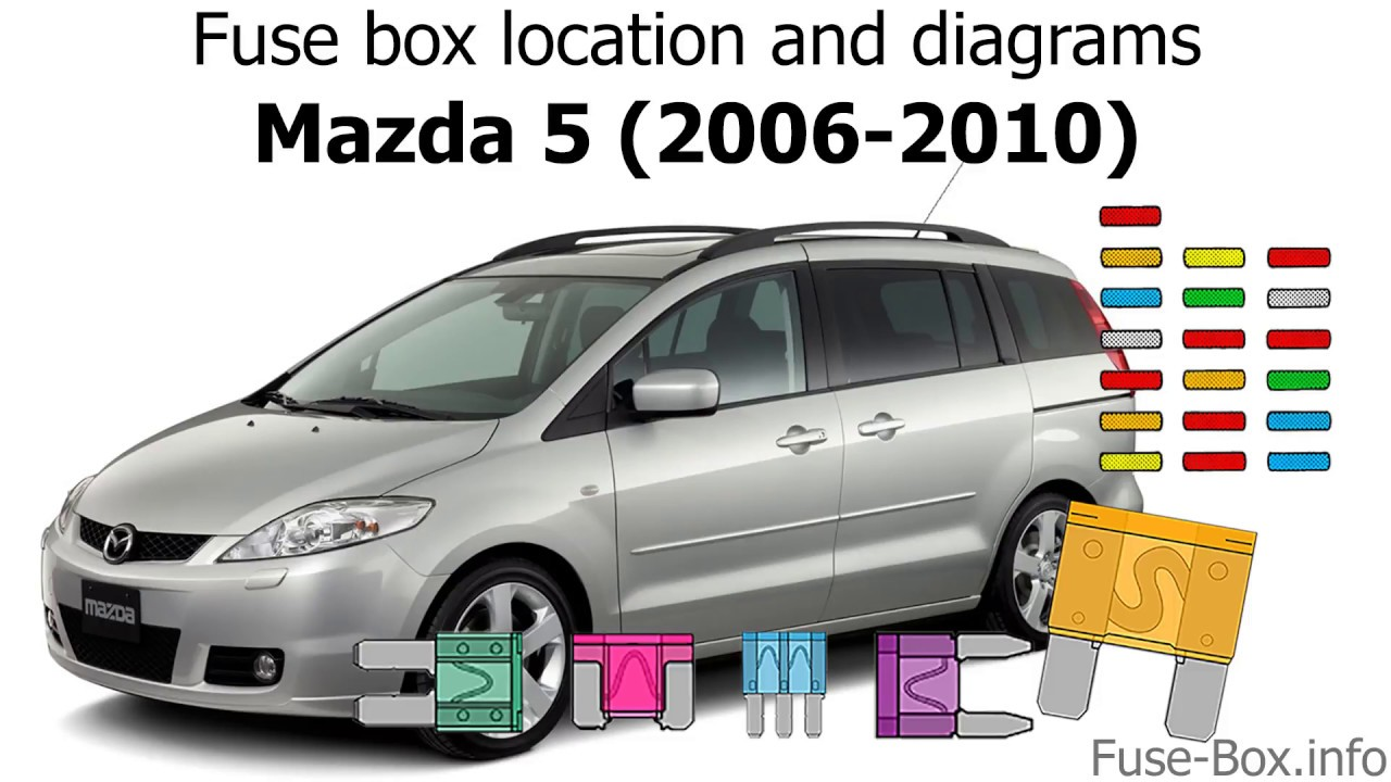 Fuse box location and diagrams: Mazda 5 (2006-2010) - YouTube