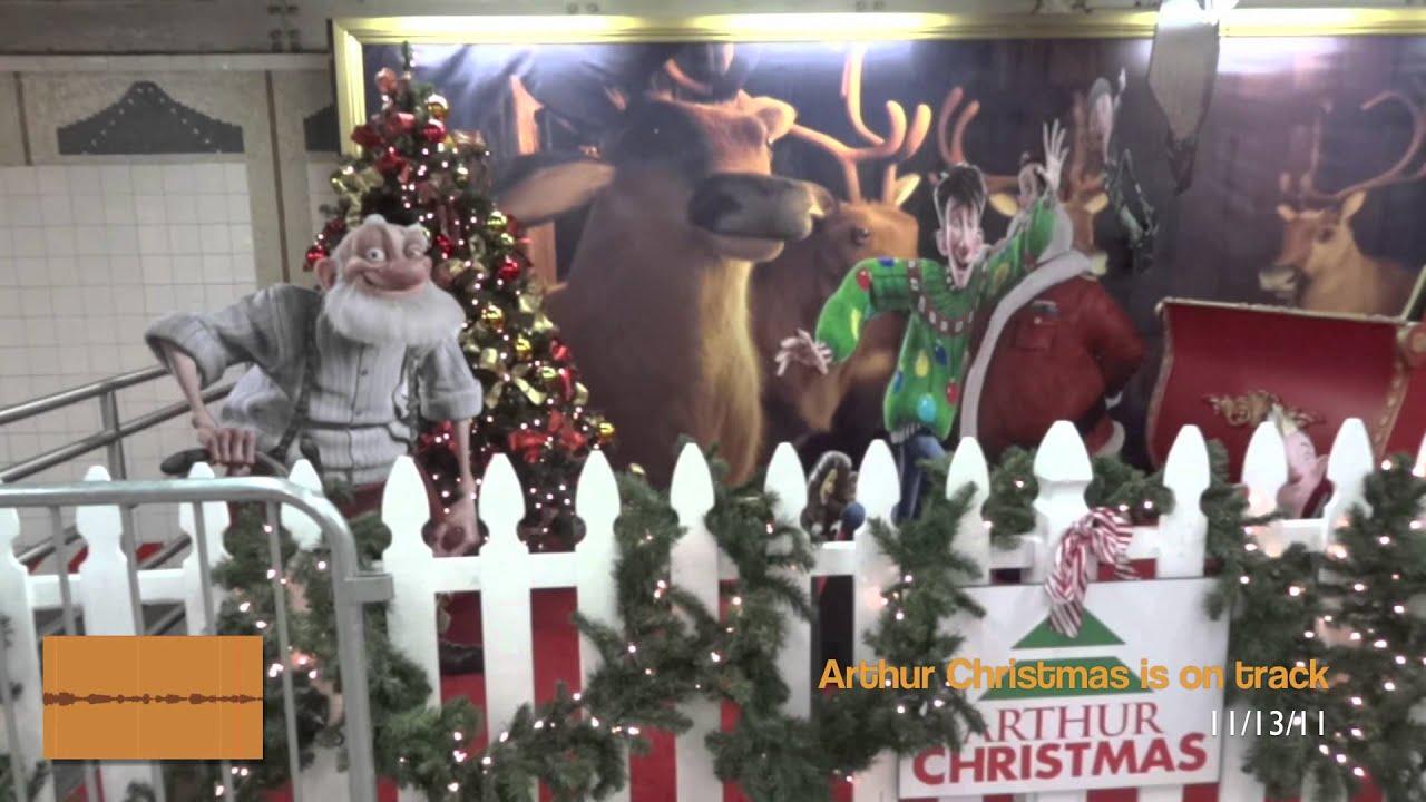 Arthur Christmas Ad Campaign In Ny Subway Youtube