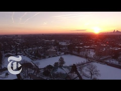 Drone Footage After The 2016 Winter Storm | The New York Times