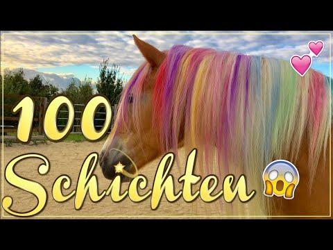100 Schichten Haarkreide ✮ Pastell Regenbogen Einhorn ♥ Anita Girlietainment
