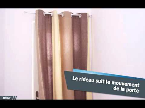 Tringle rideaux articulee pour porte for Tringle porte d entree