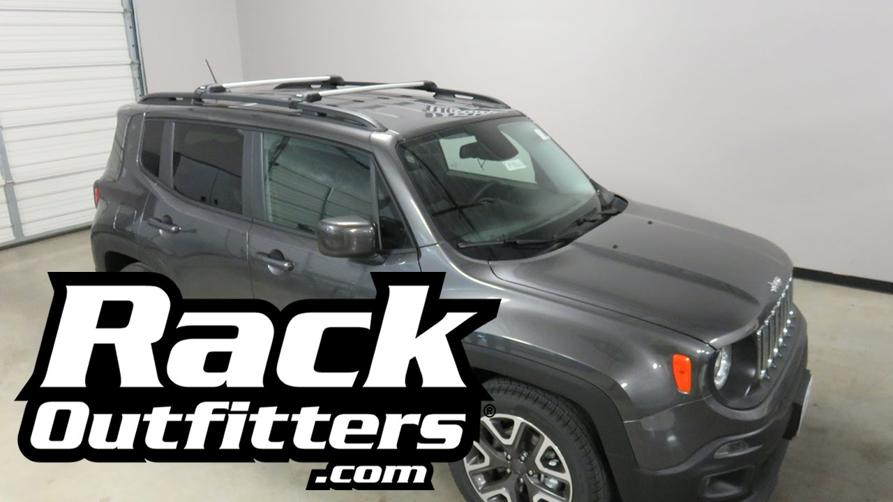 Jeep Renegade With Thule Aeroblade Edge Roof Rack Cross