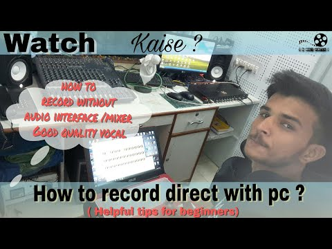 How To record Voice/instruments without using audio interfaces|explained|hindi|alternates|beginners