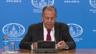 News conference by Sergey Lavrov on the results of Russian diplomacy in 2018