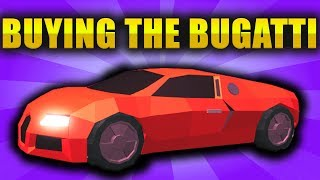 BUYING THE BUGATTI IN ROBLOX JAILBREAK!
