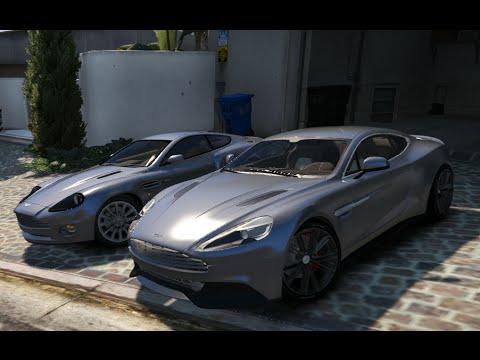 Gta V Aston Martin Vanquish 2001 Vs Aston Martin Vanquish 2015 Gta 5 Mod Youtube