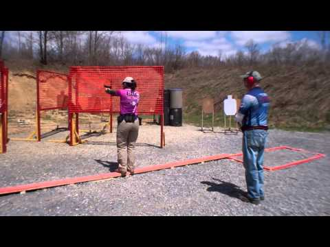 Annette Evans - Ontelaunee USPSA - April 2014 - Stage 7