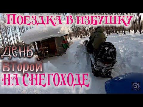 Поездка в избушку на снегоходе Yamaha Viking  / отдых на природе / Shed In A Woods / Camping