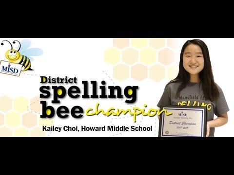 2018 MISD Spelling Bee Champion