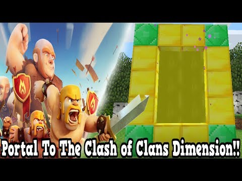 Minecraft How To Make A Portal To The Clash of Clans Dimension - Clash of Clans Dimension Showcase!!