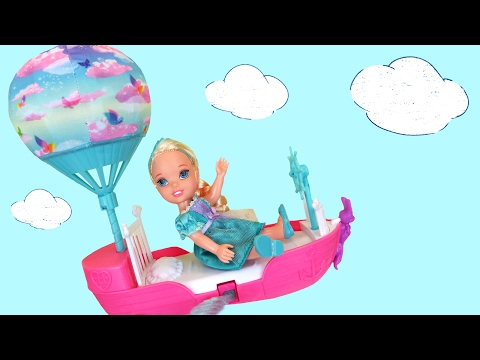 Thumbnail: FLYING ! Lemonade ! Elsa & Anna toddlers FLY with Barbie's Magical Dreamboat - Accident ! Playing