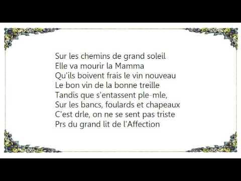 Charles Aznavour - La Mamma Lyrics