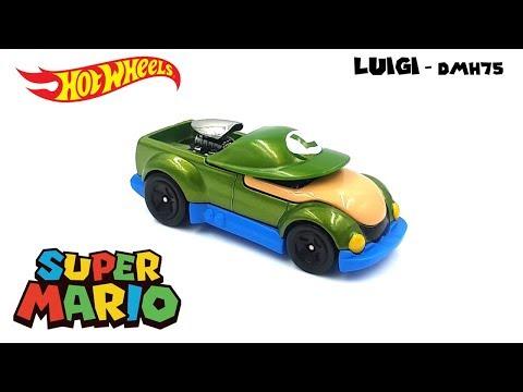 Hot Wheels 2016 - Super Mario - Luigi DMH75 - Video Still Life Toy Review