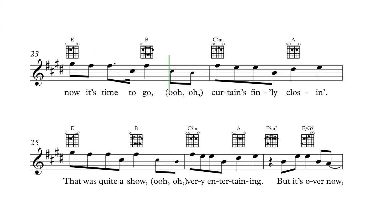 Guitar Take A Bow Rihanna Sheet Music Chords And Vocals Youtube
