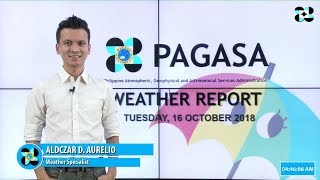 Public Weather Forecast Issued at 4:00 AM October 16, 2018