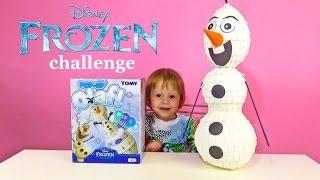Холодное сердце челлендж с Олафом. Обзор игры Pop-up Olaf frozen. Видео игрушки.