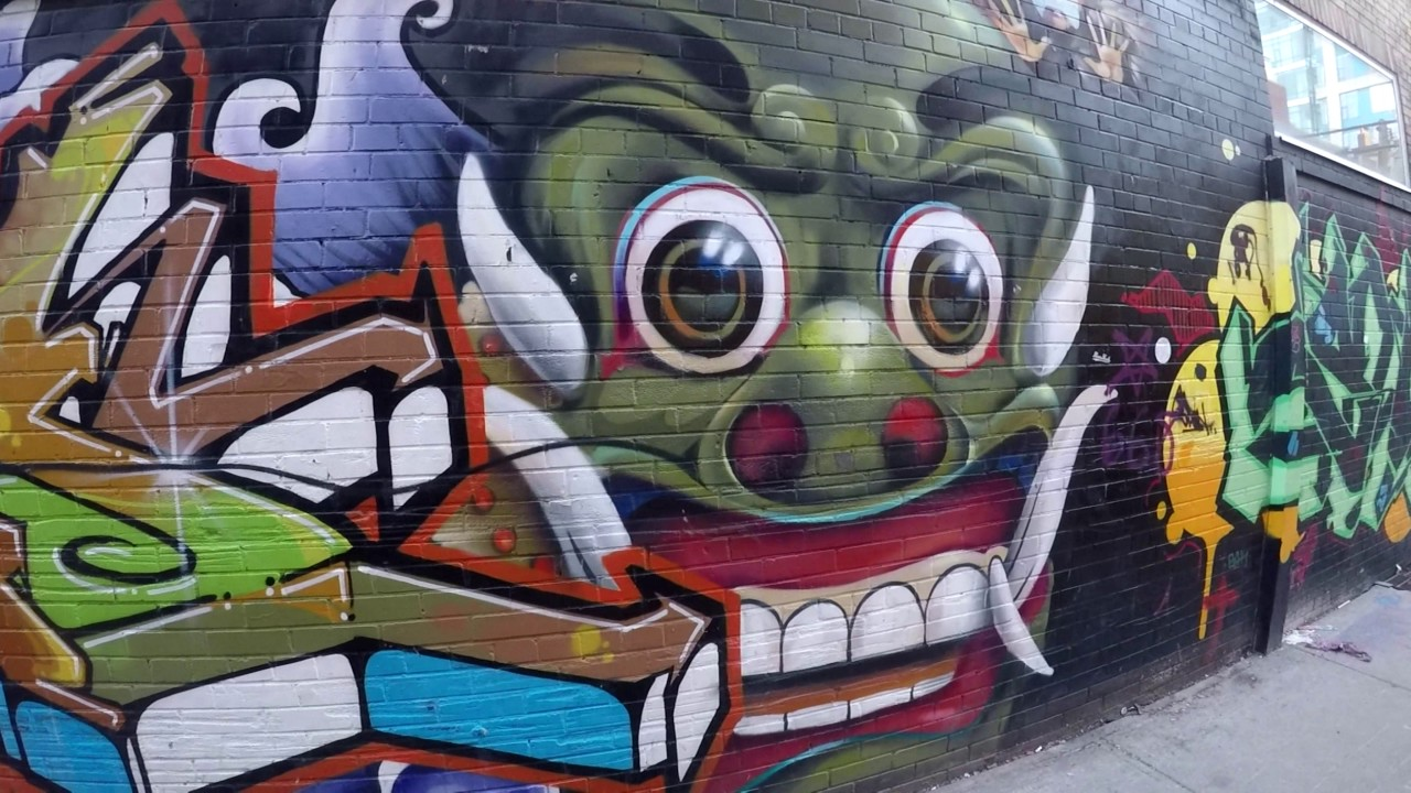Graffiti wall toronto downtown - Graffiti Alley Toronto Rick Mercer S Alley Or Rush Lane Part 8 Of 10 2017 Toronto