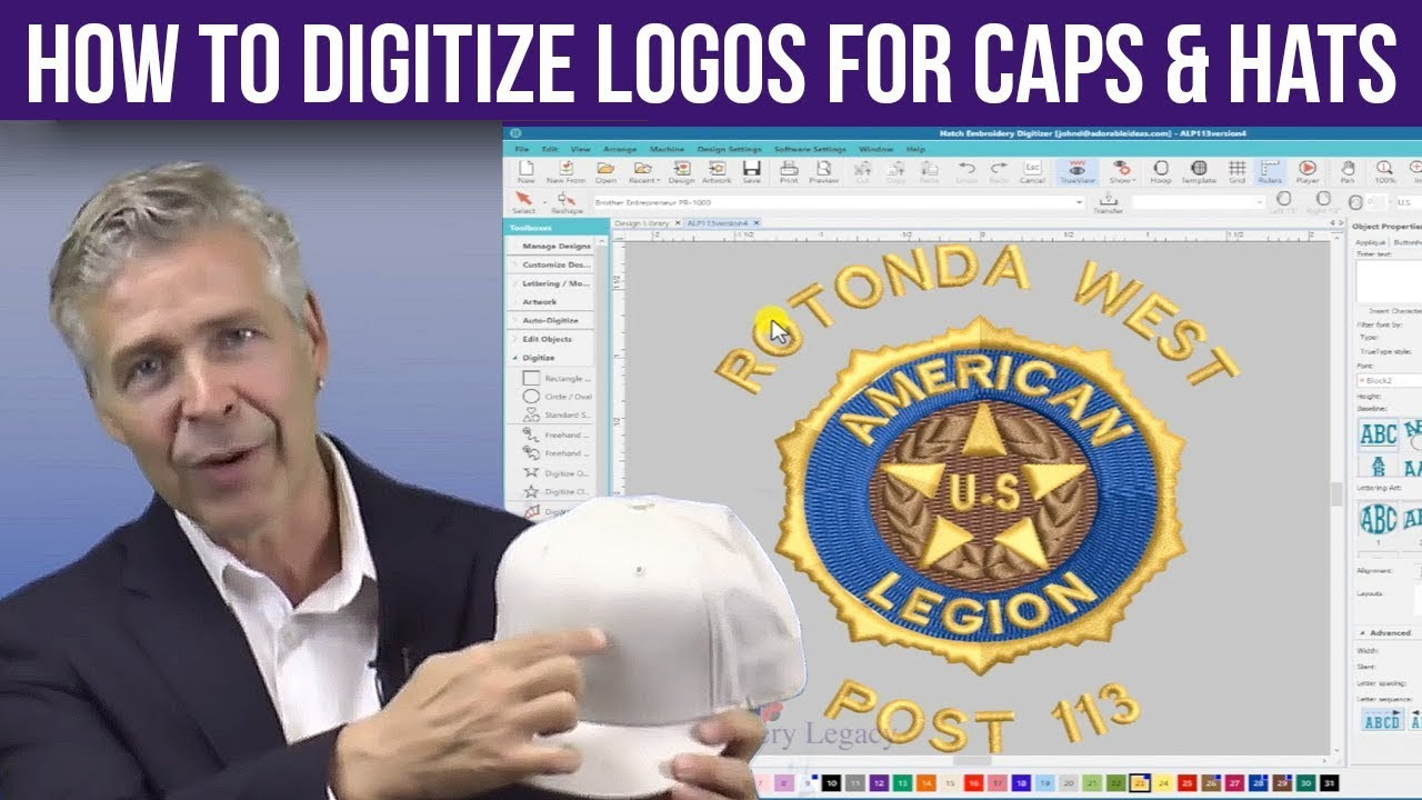 Digitizing Machine Embroidery Logos for Hats & Caps - Embroidery Medic