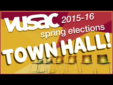 VUSAC Spring Elections: Town Hall 2015-16