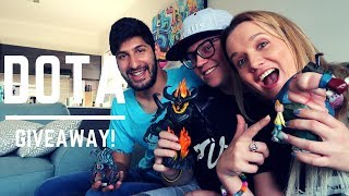 Dota 2 merch unboxing and giveaway with Kaameel and GeeMax