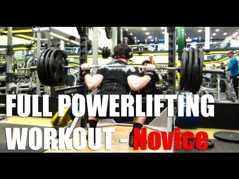 Full Powerlifting Workout Novice