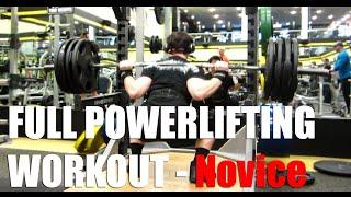 Full Powerlifting Workout - Novice