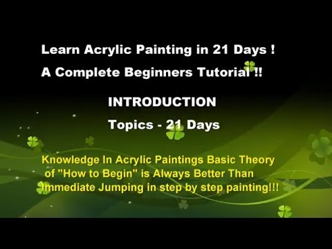 Beginners acrylic painting l course I Easy acrylic painting tutorials 21 Days