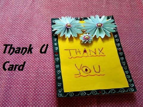 Thank You Card Ideas Easy Thank You Cards Complete Tutorial
