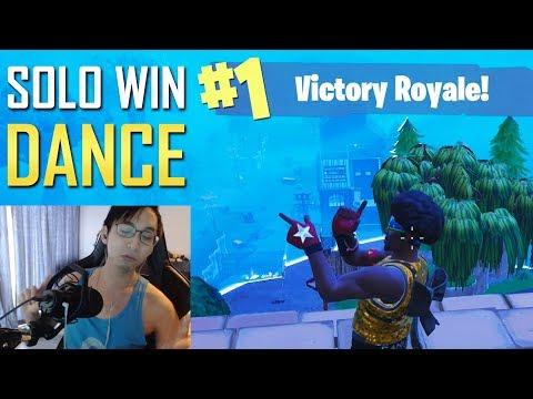 SOLO WIN DANCE (SingSing Fortnite Battle Royale Highlights #40)