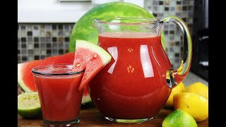 Summery Watermelon Lemonade #TastyTuesdays   CaribbeanPot.com
