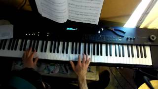 The Munsters Theme Piano Tv Theme - Yamaha CP50 - How To Play