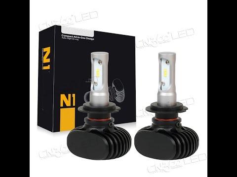 Установка светодиодной лампочки N1 на Ford focus 2 за 3 мин.