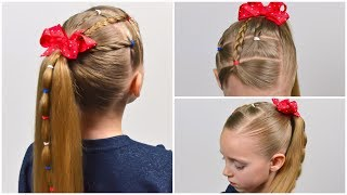 5 Minute Easy Elastic Hairstyle   Elastic Style   Quick and Easy hairstyle for girls #67