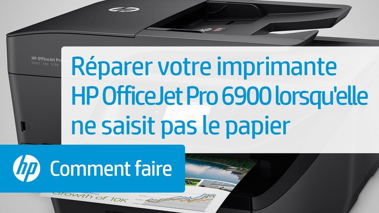 Réparer votre imprimante HP OfficeJet Pro 6900 lorsqu'elle ne saisit pas le  papier