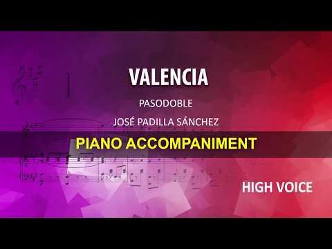 Valencia / Padilla: Karaoke + Score guide / High voice