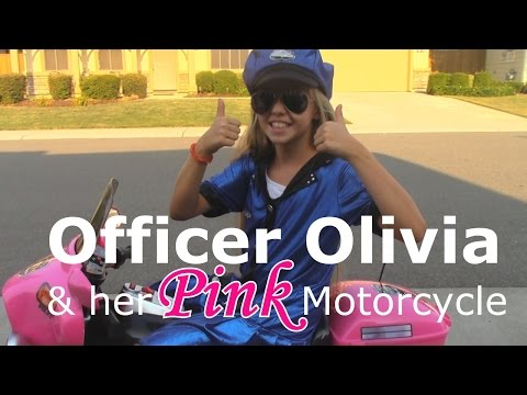 Officer Olivia & Her Pink Motorcycle