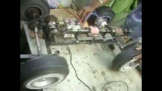 Mechanical engineering students projects--magnetic levitation drive automobile