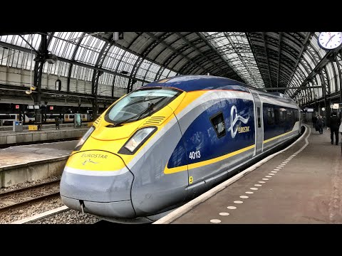 Eurostar London to Amsterdam - the VERY FIRST train! 4th Apr