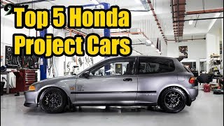 Top 5 Most Popular Honda Project Cars