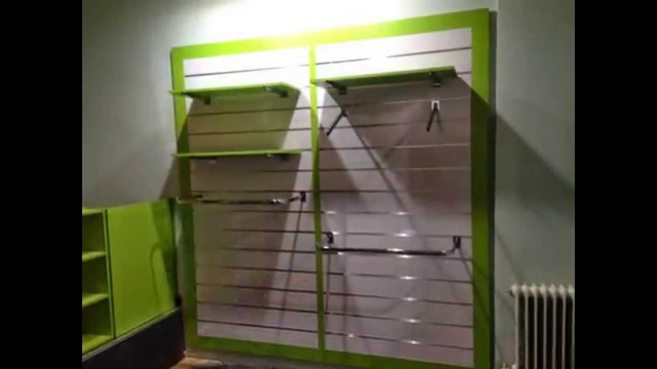 Mobiliario para tienda de ropa infantil - YouTube