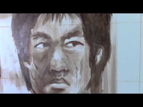 Bruce lee painting how to paint portraits of celebrities for Lee s painting
