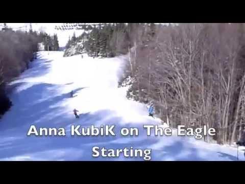Anna Kubik Skis the Eagle at Ski Ben Eoin, Cape Breton