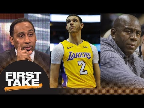 Lonzo Ball reason Stephen A. Smith gives Magic Johnson lower grade as president | First Take | ESPN